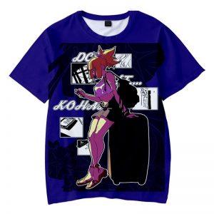 Kohaku Blue Urban Hip Hop Wifu Look Dr.Stone T-Shirt XS Official Dr. Stone Merch