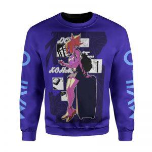 Kohaku Blue Urban Hip Wifu Look 3D Printed Dr Stone Sweatshirt S Official Dr. Stone Merch