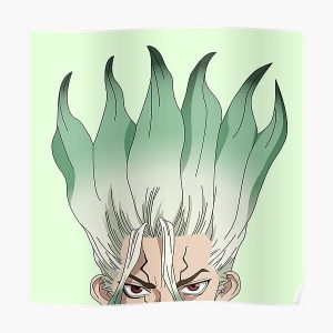 Senku Ishigami Peeker | Dr. Stone Poster RB2805 product Offical Doctor Stone Merch