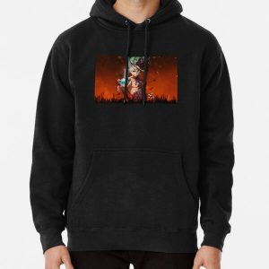 4K Senku, the Dr Stone Pullover Hoodie RB2805 product Offical Doctor Stone Merch
