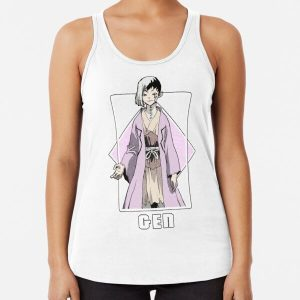Dr Stone - Gen Asagiri Racerback Tank Top RB2805 product Offical Doctor Stone Merch