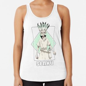 Dr Stone - Senku Ishigami Racerback Tank Top RB2805 product Offical Doctor Stone Merch