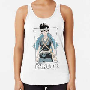 Dr Stone - Chrome Racerback Tank Top RB2805 product Offical Doctor Stone Merch