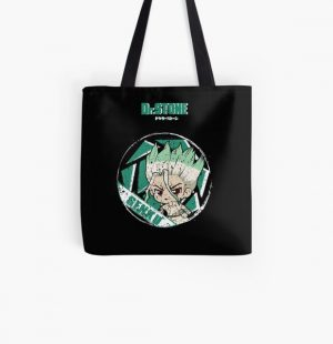 DR. STONE: SENKU STONE (GRUNGE STYLE) All Over Print Tote Bag RB2805 product Offical Doctor Stone Merch