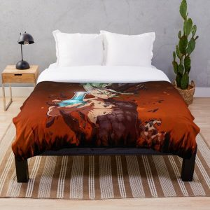 4K Senku, the Dr Stone Throw Blanket RB2805 product Offical Doctor Stone Merch
